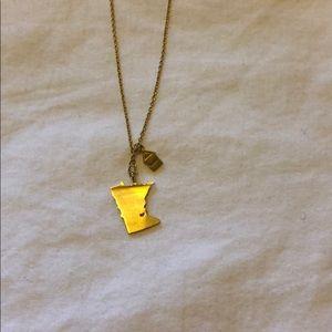 NEW handmade minnesota home gold necklace